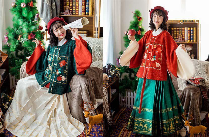 """圣诞节""""汉服""""大受欢迎"""