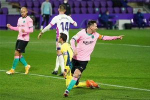 梅西为巴萨打入第644粒进球,打破贝利的历史纪录