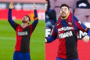 在与奥萨苏纳的比赛中,梅西因向阿根廷传奇人物马拉多纳致敬而被罚款