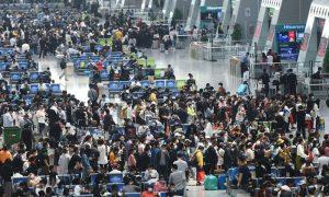 """车票预订预示着""""五一""""期间中国的旅游将出现爆发性增长"""