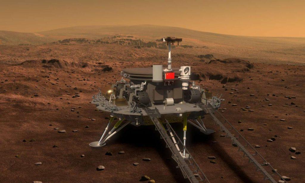 历史一刻!天问一号成功着陆火星