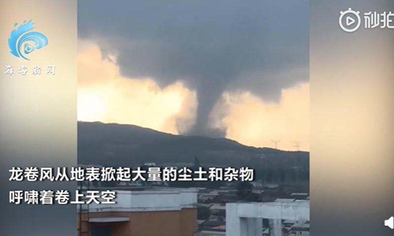 中国东北黑龙江省发生龙卷风,造成1人死亡,8人受伤