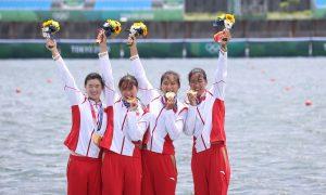 东京奥运会:中国女子四人双桨以世界最好成绩夺金