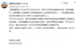 沈阳市某超市发生一起刑事案件致2死7伤,警方发现犯罪嫌疑人尸体