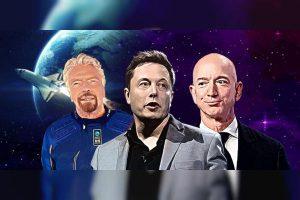 """世界上最富有的人陷入了""""太空竞赛"""""""