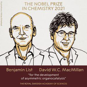 2021年诺贝尔化学奖揭晓,两位科学家获奖